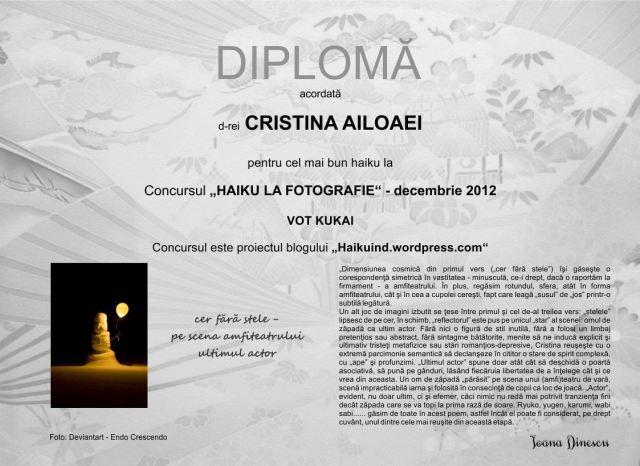 Decembrie 2012 - kukai Cristina Ailoaei
