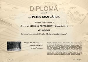 DIPLOMA FEBRUARIE 2013 JURIZARE P.I.GARDA