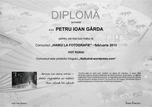 DIPLOMA FEBRUARIE 2013 KUKAI P.I.GARDA